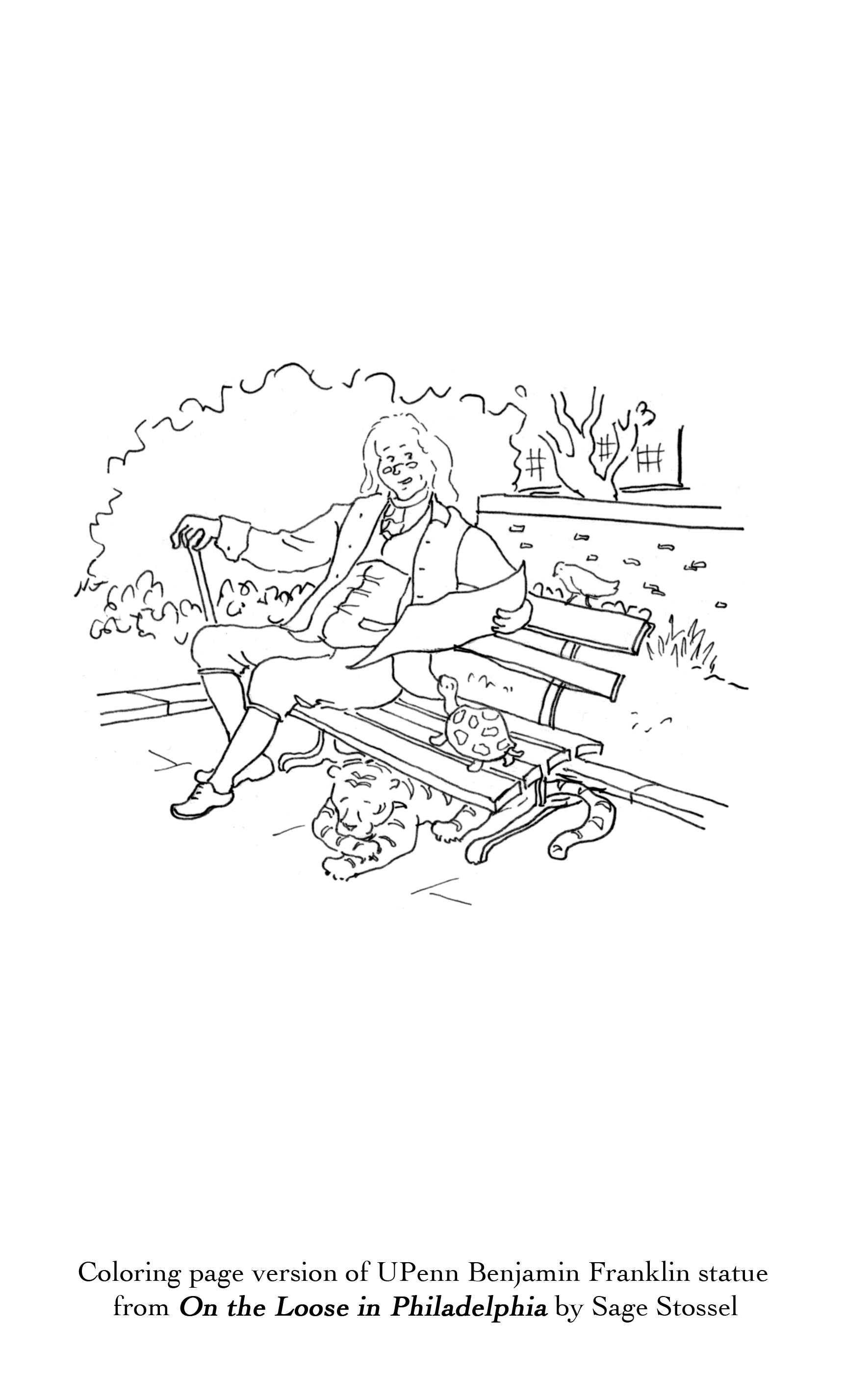 philadelphia coloring book pages