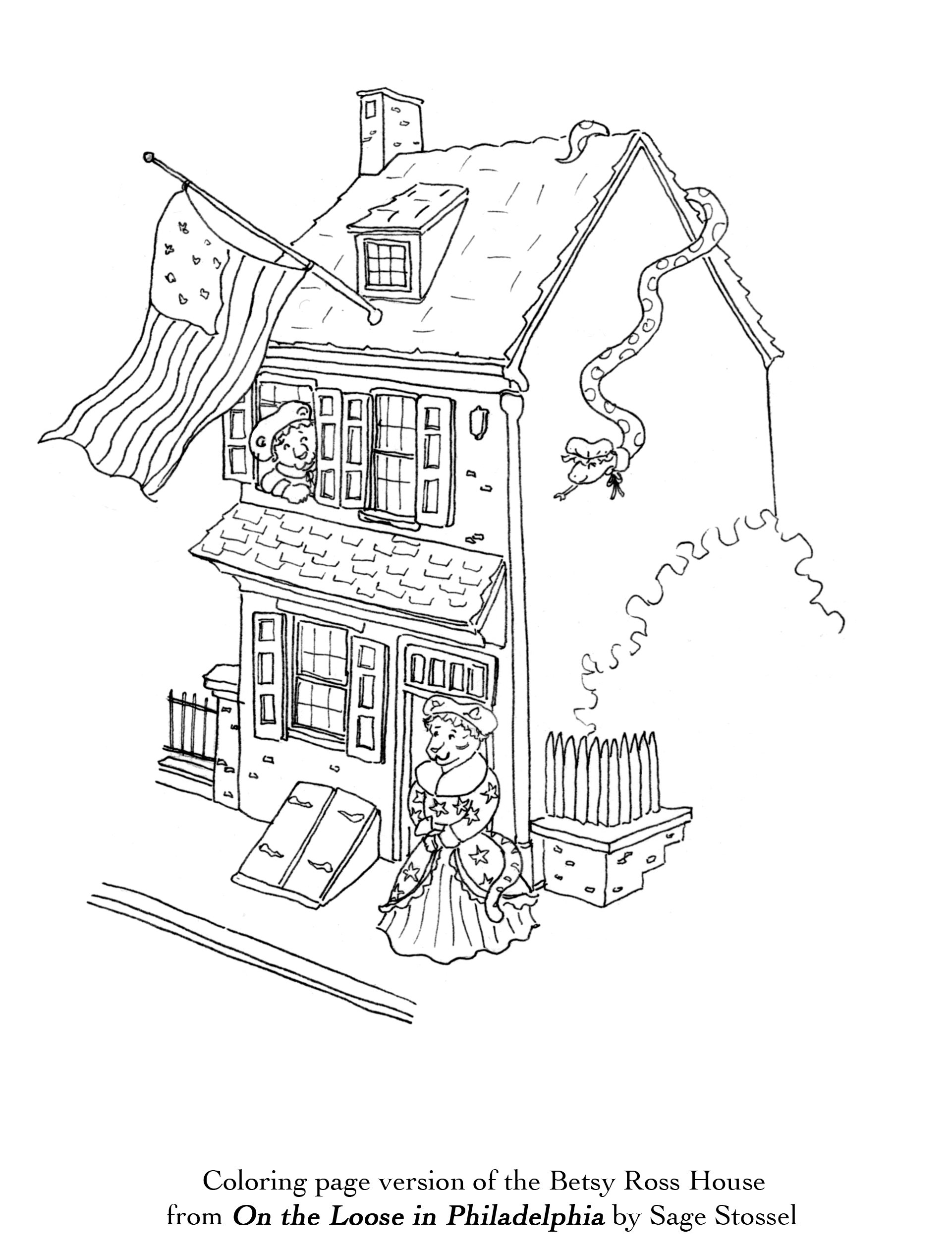 coloring book philadelphia betsy ross house